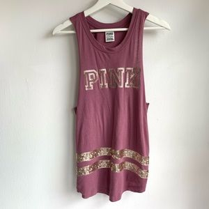 Pink Victoria's Secret sequence tank size XS